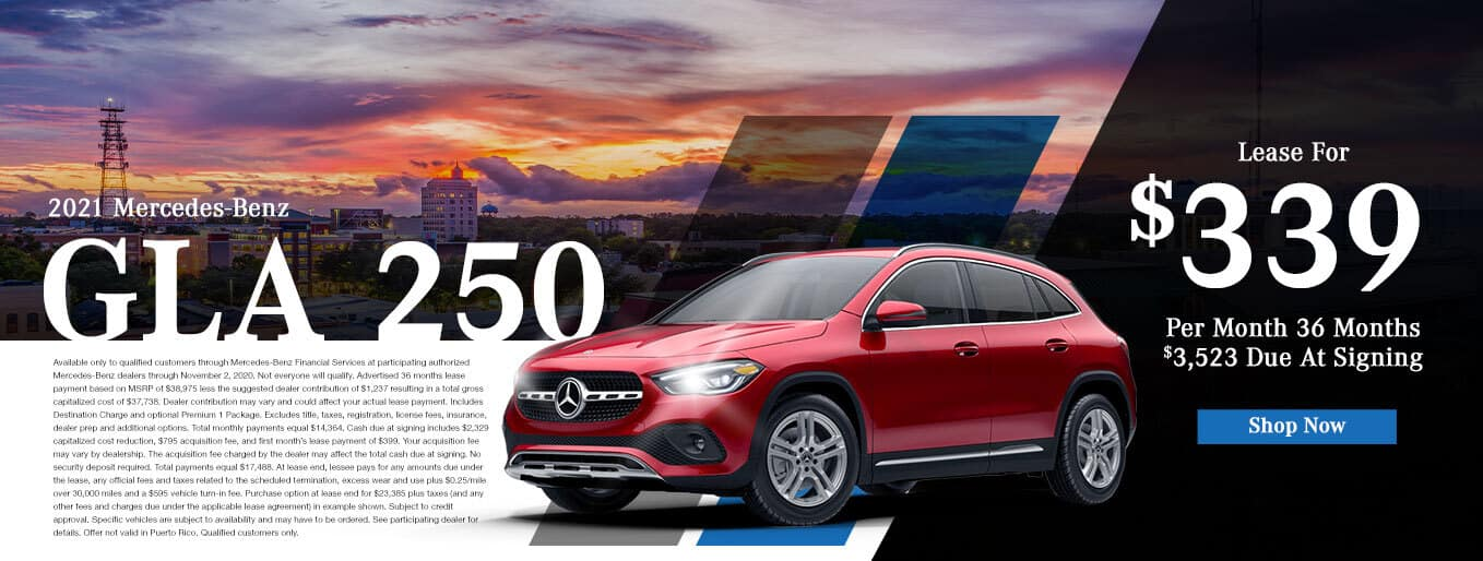 New 2020 Mercedes-Benz GLA 250 | $339/Mo for 36 Months With $3,523 Due At Signing