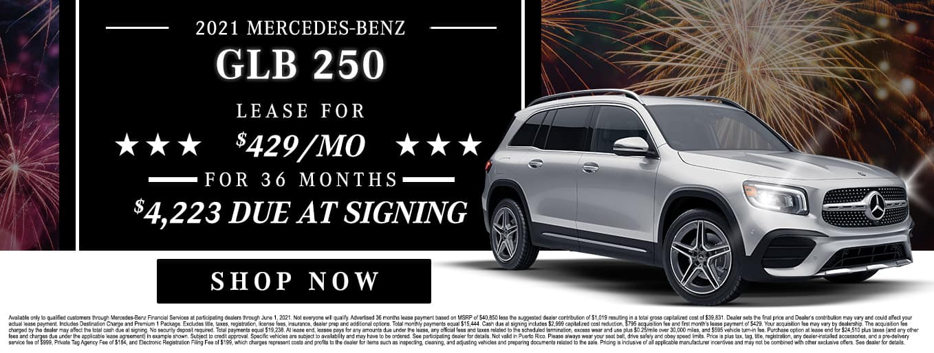 2021 Mercedes-Benz GLB 250 | Lease For $429/Mo for 36 Months with $4,223 Due At Signing