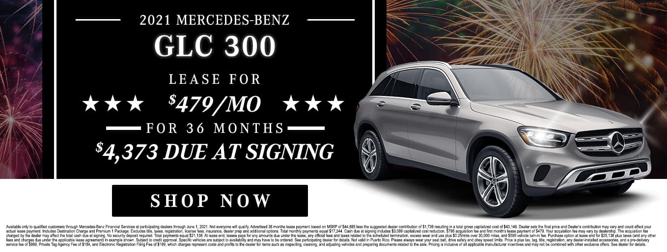 2021 Mercedes-Benz GLC 300 | Lease For $479/Mo for 36 Months with $4,373 Due At Signing