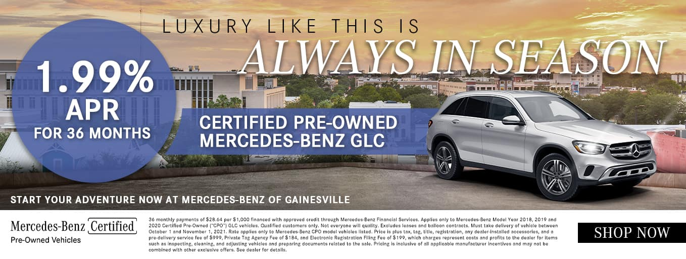 Luxury Like This Is Always In Season   1.99% APR For 36 Months   Certified Pre-Owned Mercedes-Benz GLC