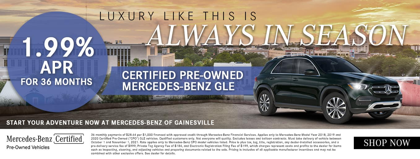Luxury Like This Is Always In Season   1.99% APR For 36 Months   Certified Pre-Owned Mercedes-Benz GLE