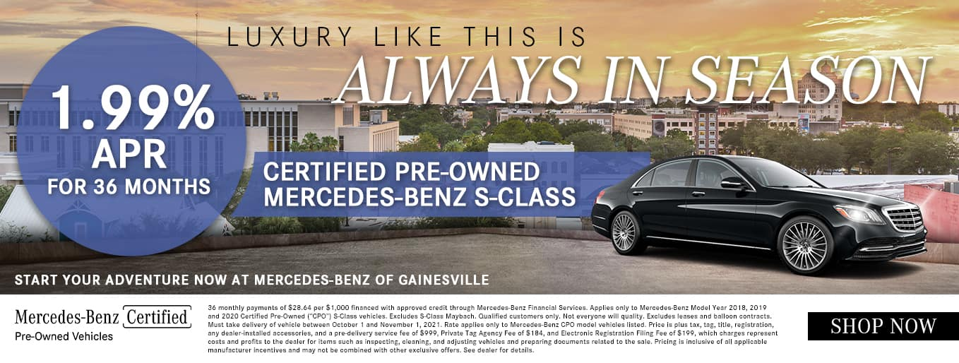 Luxury Like This Is Always In Season   1.99% APR For 36 Months   Certified Pre-Owned Mercedes-Benz S-Class