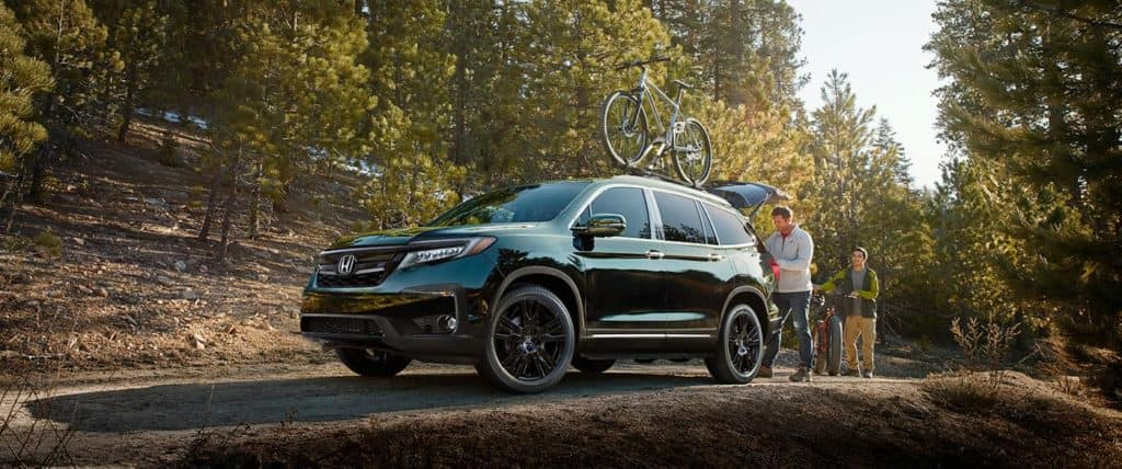 Honda Pilot Bicycle Trip in the Woods