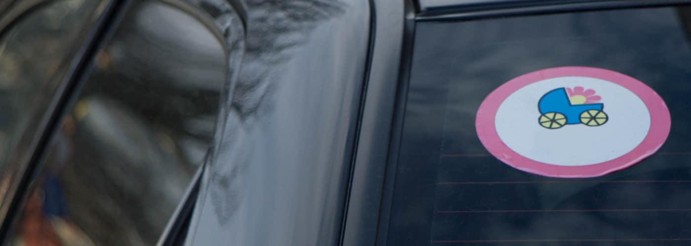 Sticker on Rear Car Window