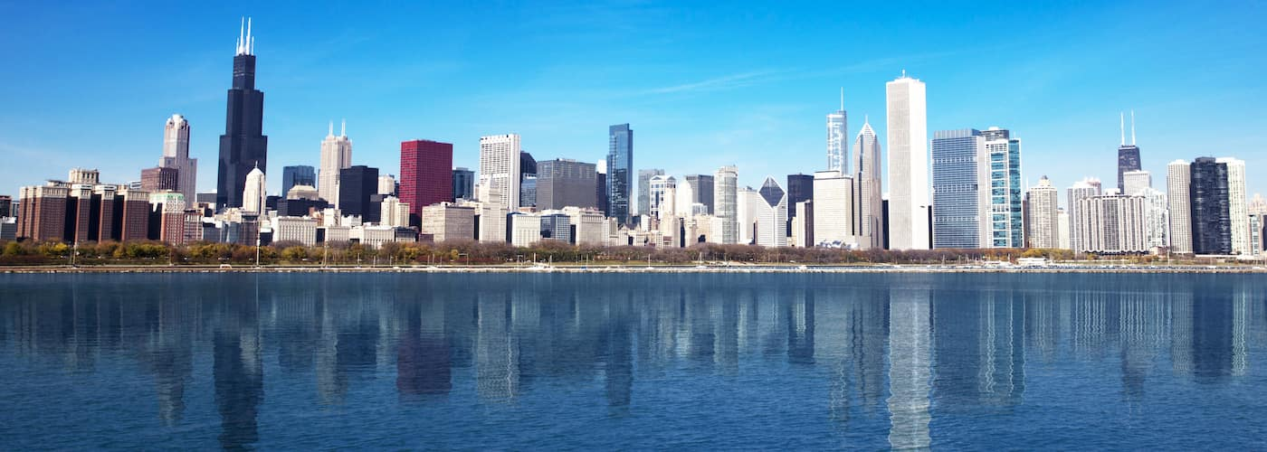 Chicago Skyline Across Lake