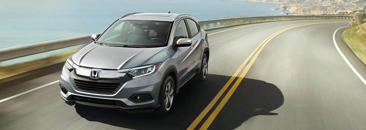 Silver 2019 Honda HR-V on Highway