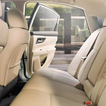 2018 Nissan Altima Interior Rear Seating Beige Leather