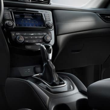 2018 Nissan Rogue SL front interior charcoal leather