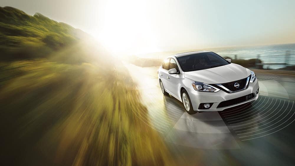 Nissan Sentra White Front Profile Original