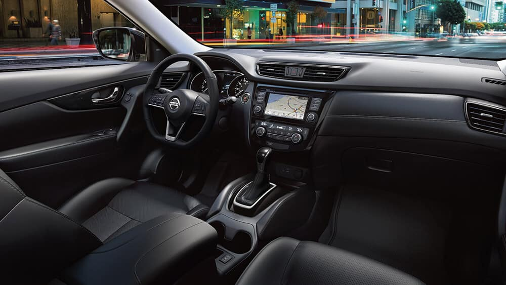 2018 Nissan Rogue SL interior charcoal leather
