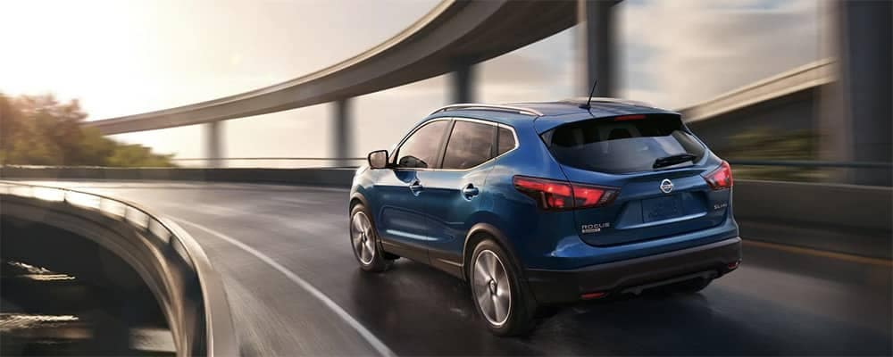 2019 Nissan Rogue Sport on highway banner