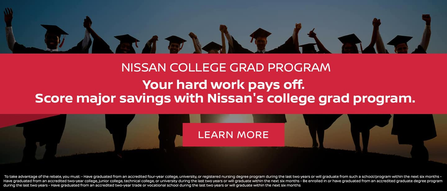 You've earned up to $500 cash back when you buy or lease a new Nissan