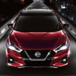 2020 Nissan Maxima driving down highway
