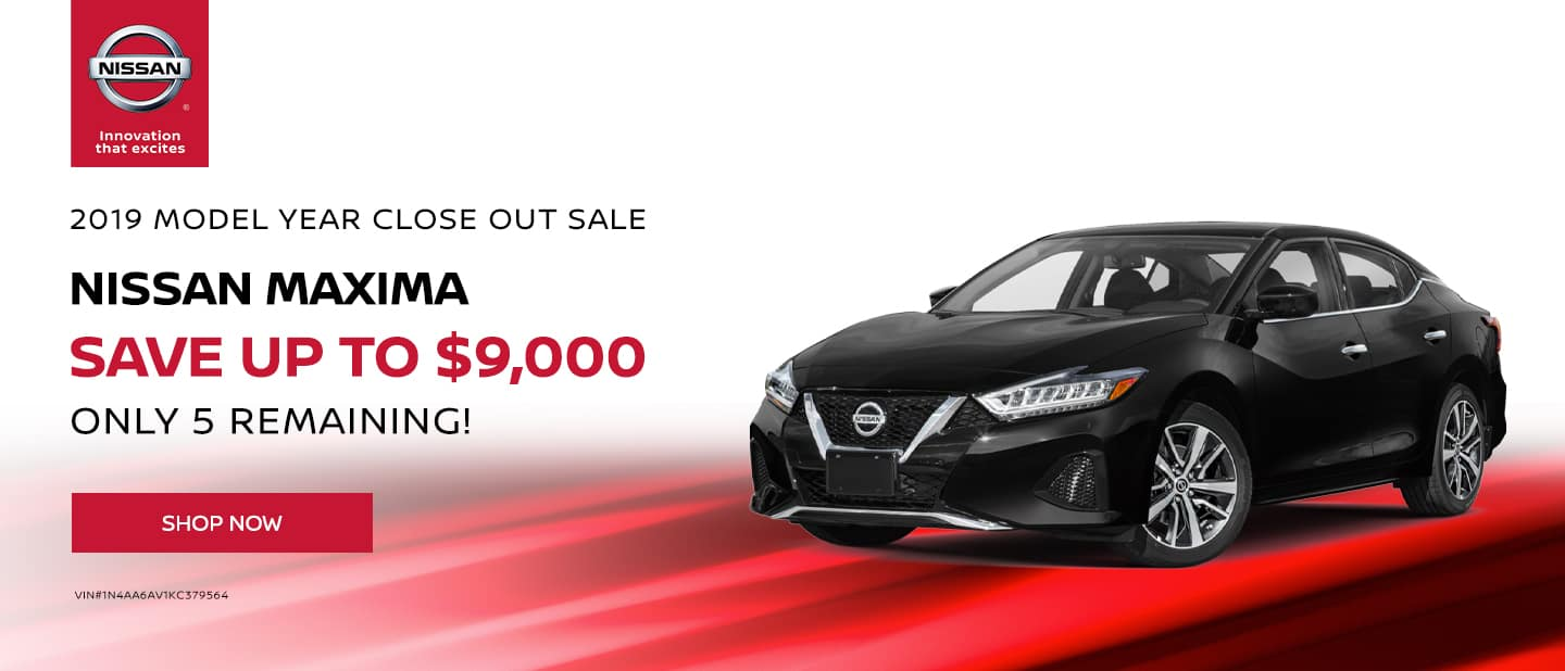 Save Up to $9,000 on 2019 Nissan Maxima