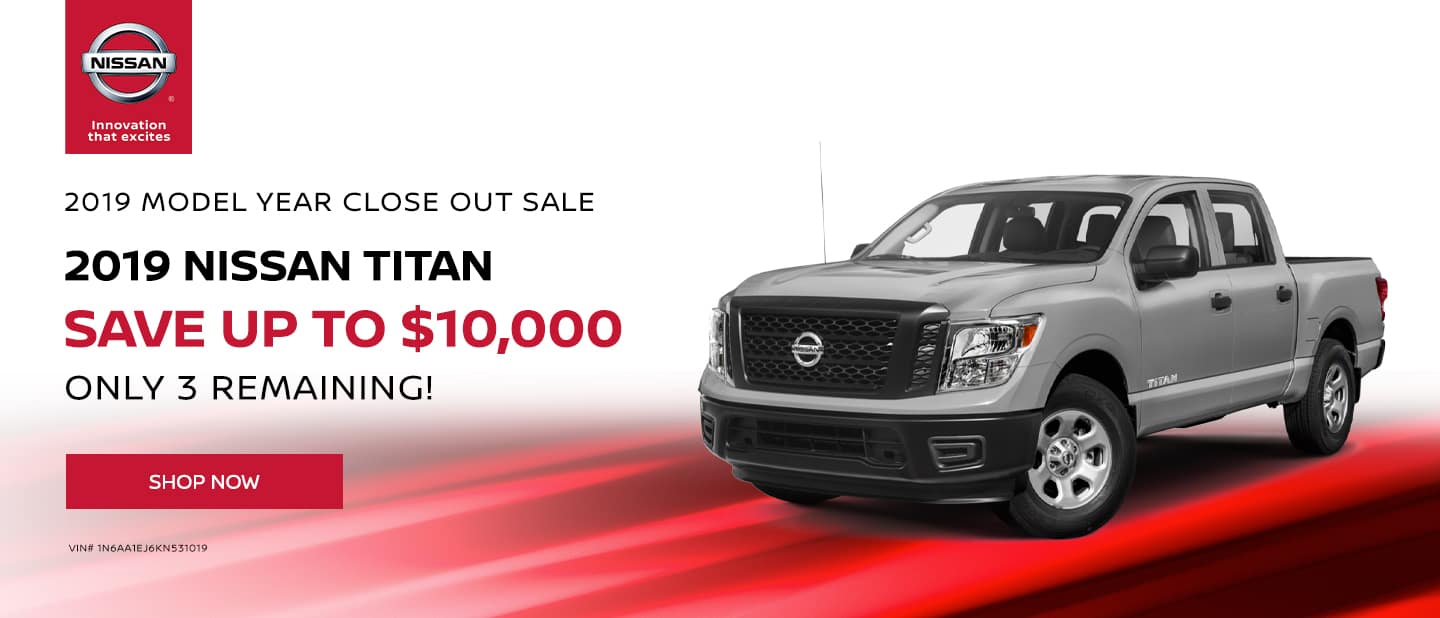 Save Up to $10,000 on 2019 Nissan Titan