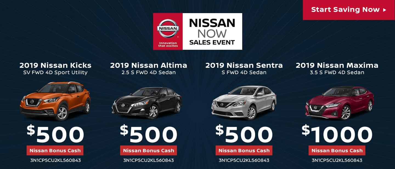 Nissan NOW Sales Event - Nissan Bonus Cash