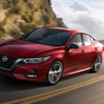 2020 Nissan Sentra driving on mountain road