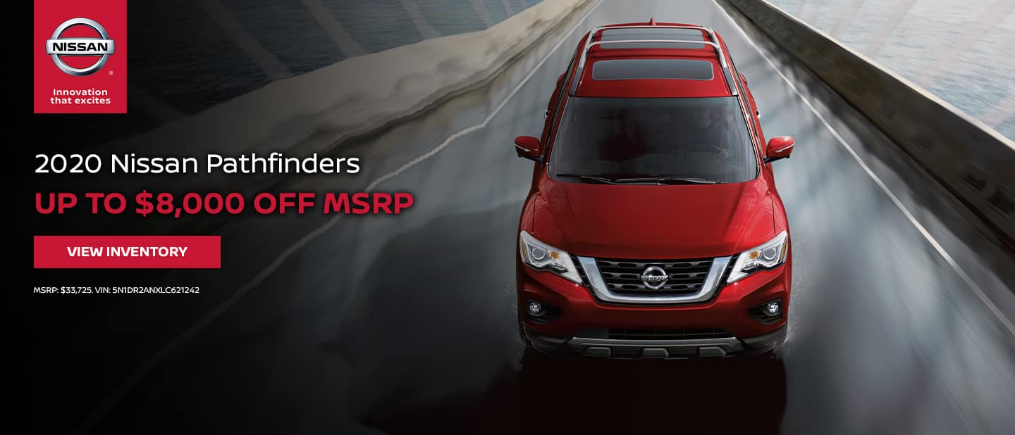 2020 Nissan Pathfinder - Up to $8,000 off
