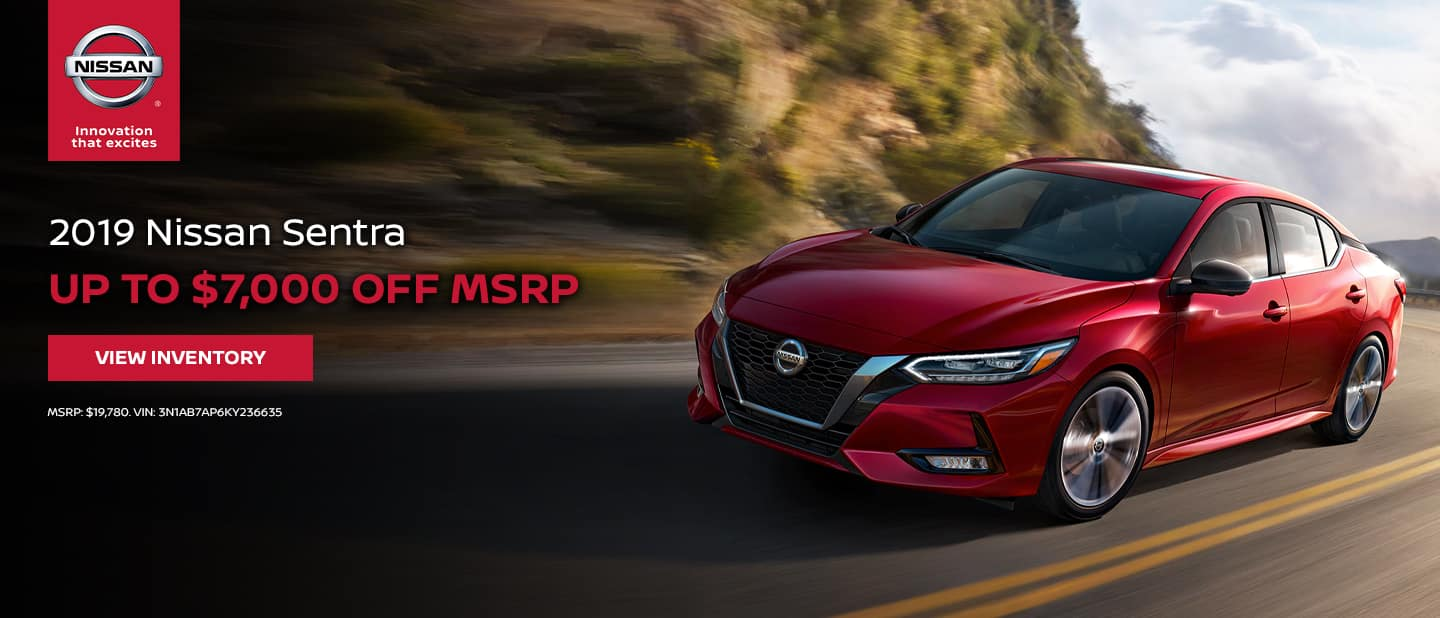 2019 Nissan Sentra - Up to $7,000 off