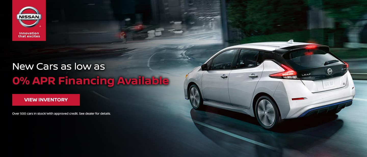 New Nissans as low as 0% APR