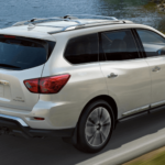 2020 Nissan Pathfinder towing on Virginia highway