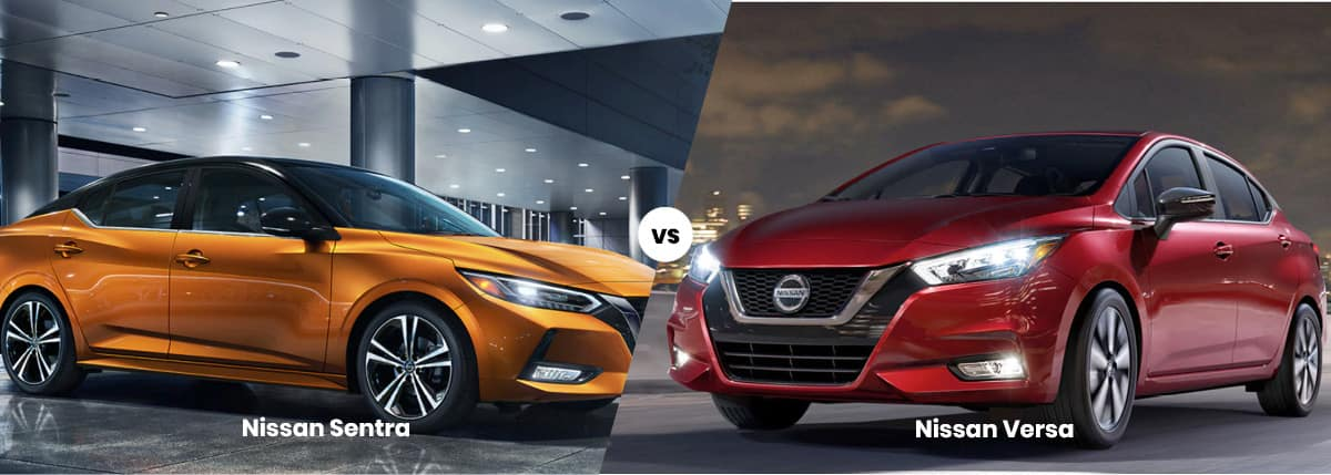 Nissan Sentra vs Maxima side by side banner photo