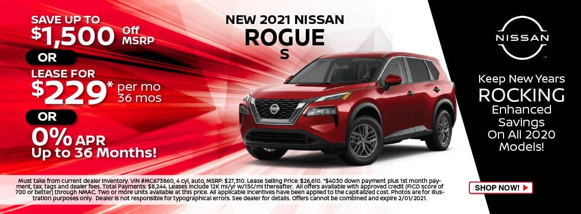 2021 Rogue Lease $229/mo