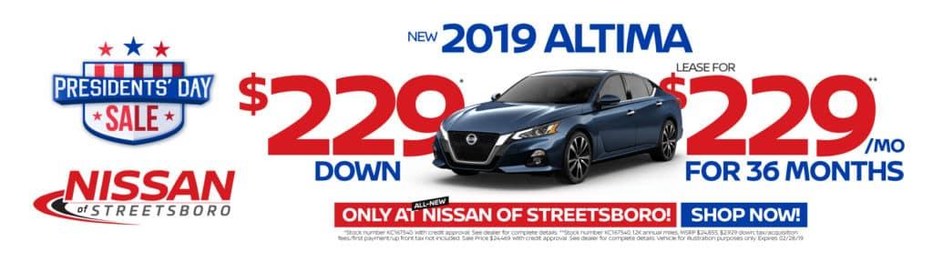 2019 NISSAN ALTIMA $229 SPECIAL