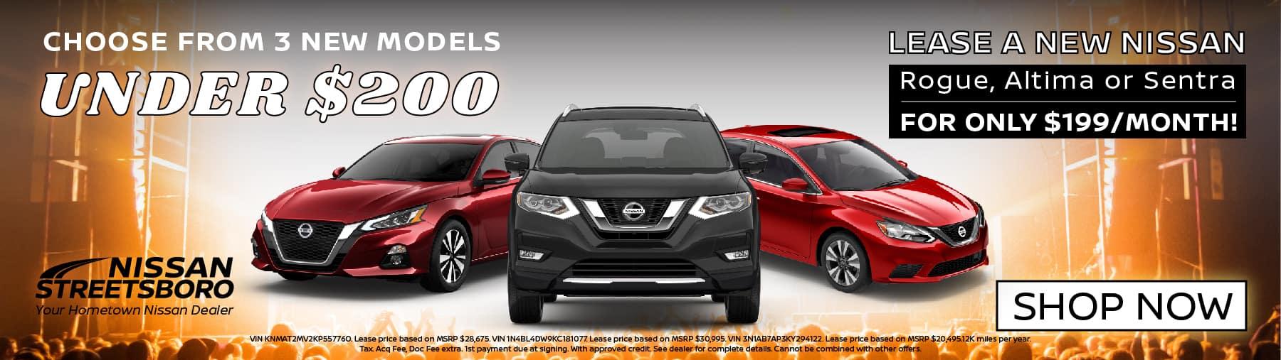 New Nissans Under $200 per Month