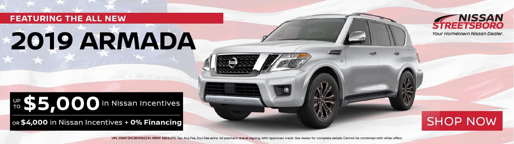 2019 Nissan Armada Incentives
