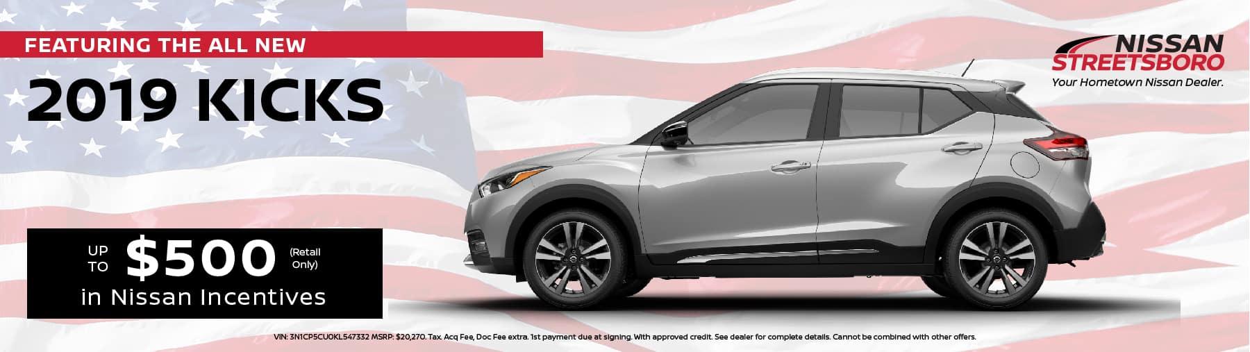 2019 Nissan Kicks Incentives