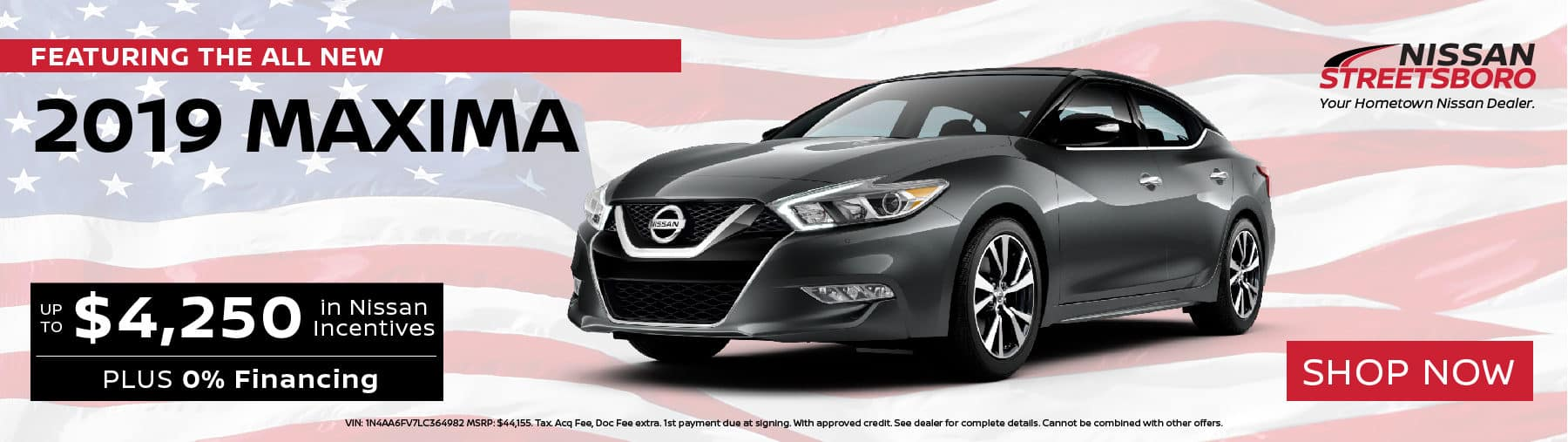 2019 Nissan Maxima Incentives