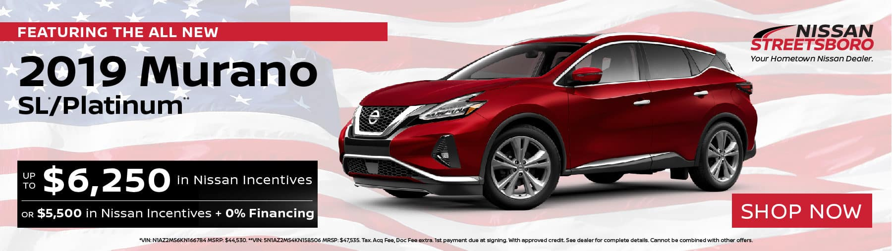 2019 Nissan Murano Incentives