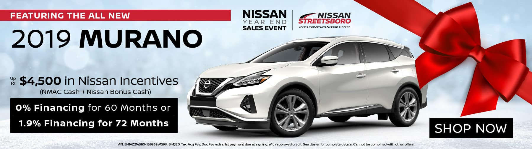 2019 Nissan Murano Incentives