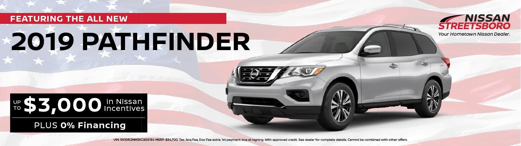 2019 Nissan Pathfinder Incentives