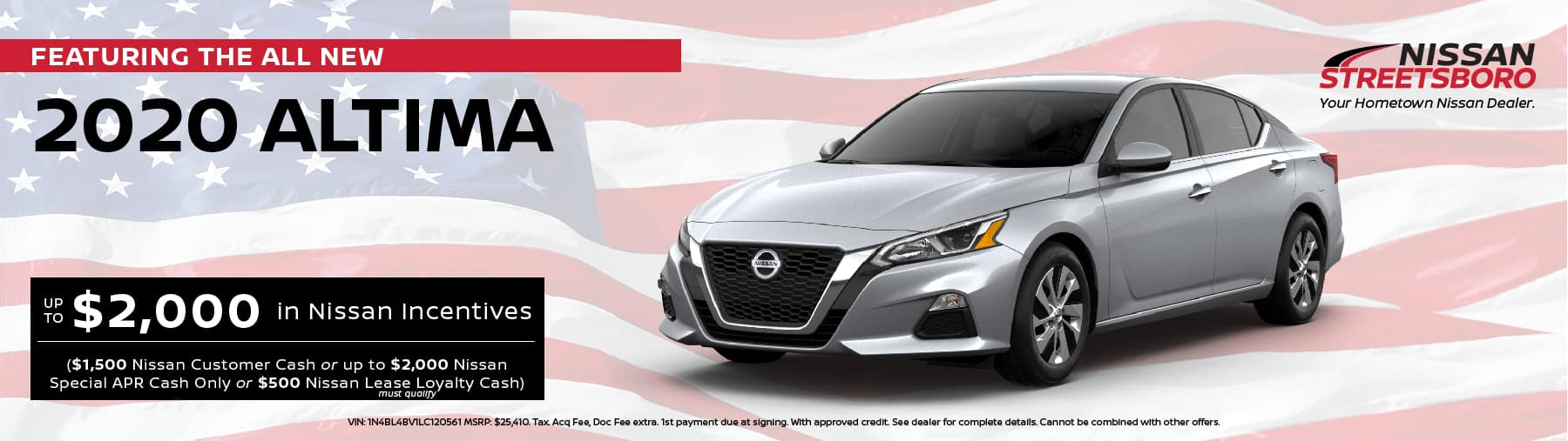 2020 Nissan Altima Incentives