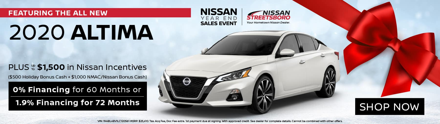 2020 Nissan Altima Incentives
