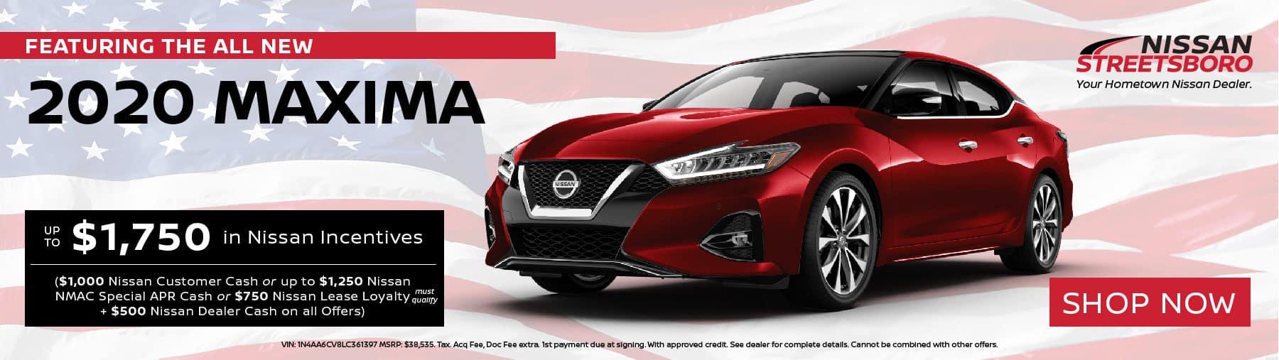 2020 Nissan Maxima Incentives
