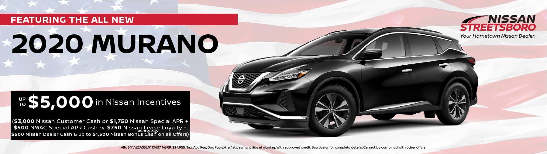 2020 Nissan Murano Incentives