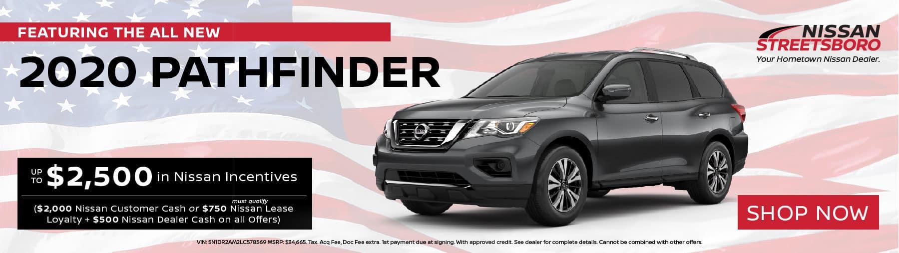 2020 Nissan Pathfinder Incentives