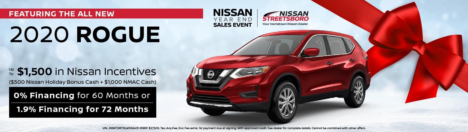 2020 Nissan Rogue Incentives