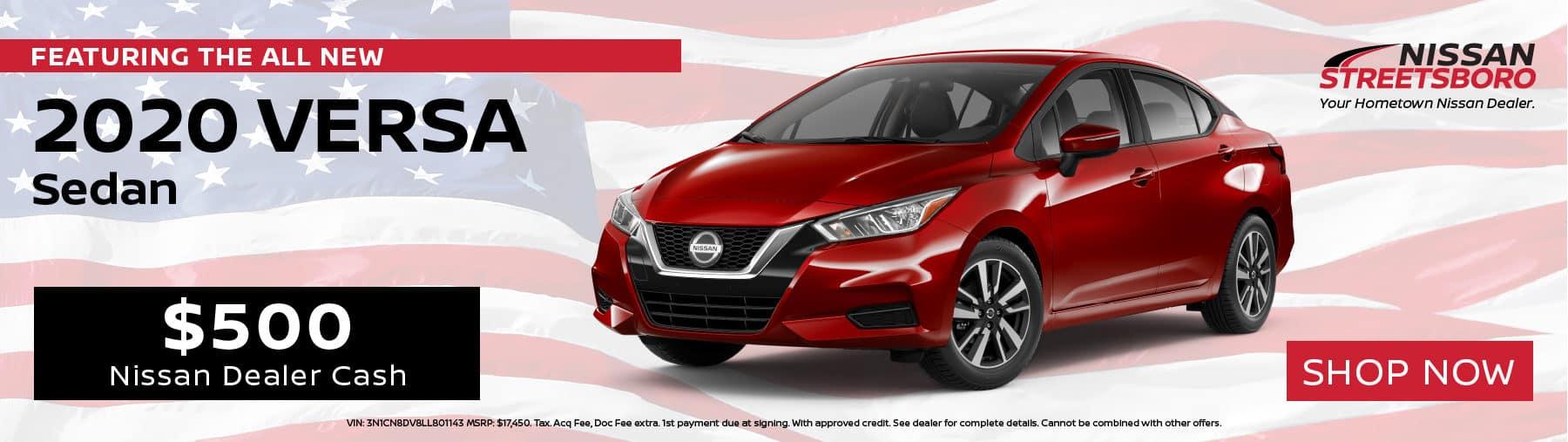 2020 Nissan Versa Incentives