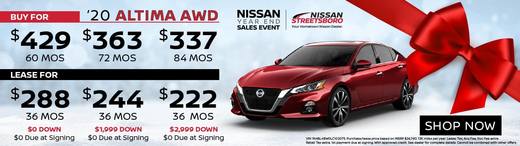 2020 Nissan Altima AWD