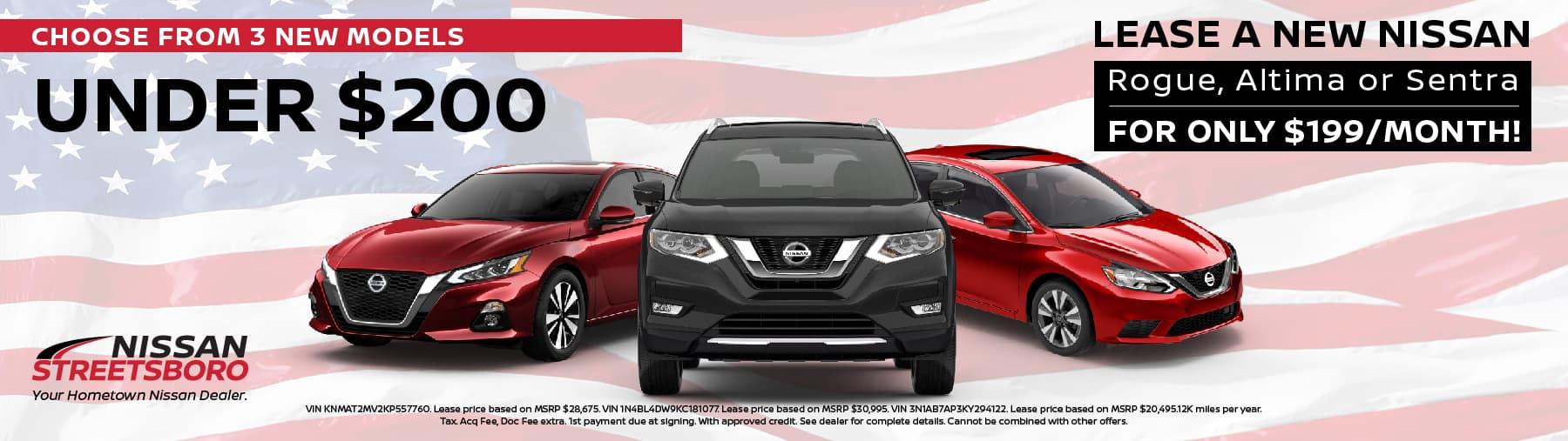 New Nissan under $200