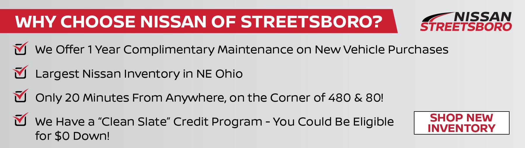 Why Choose Nissan of Streetsboro