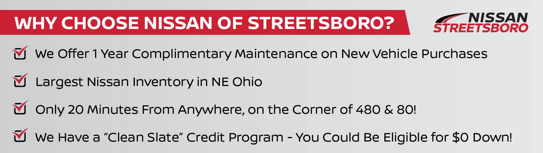 Choose Nissan of Streetsboro