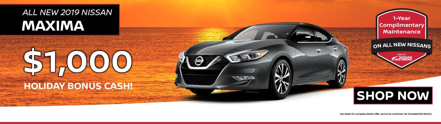 2019 Nissan Maxima Bonus Cash