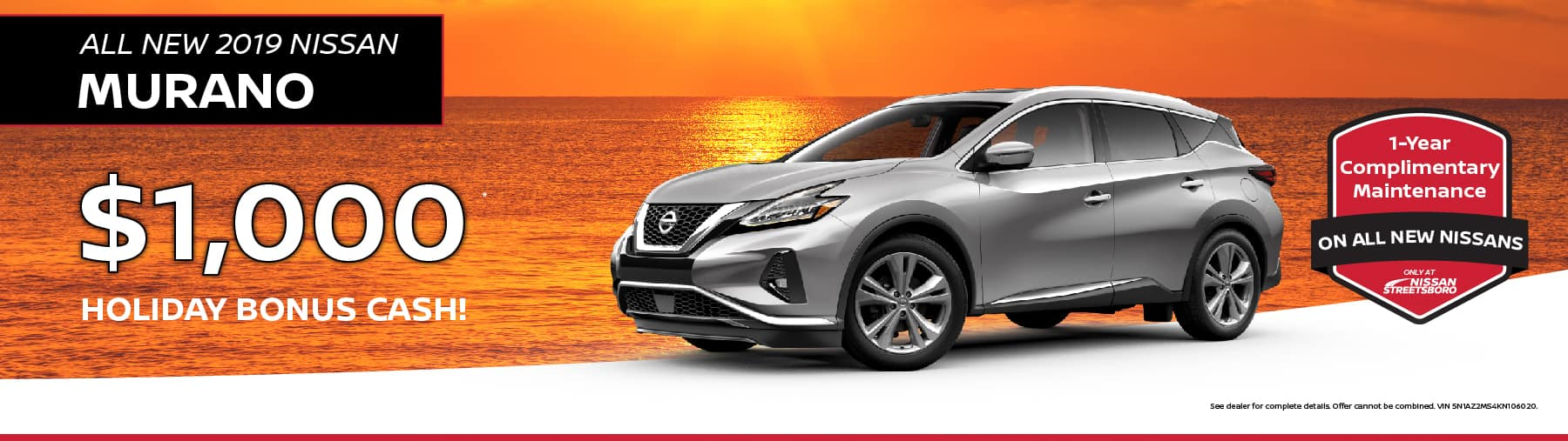 2019 Nissan Murano Holiday Cash