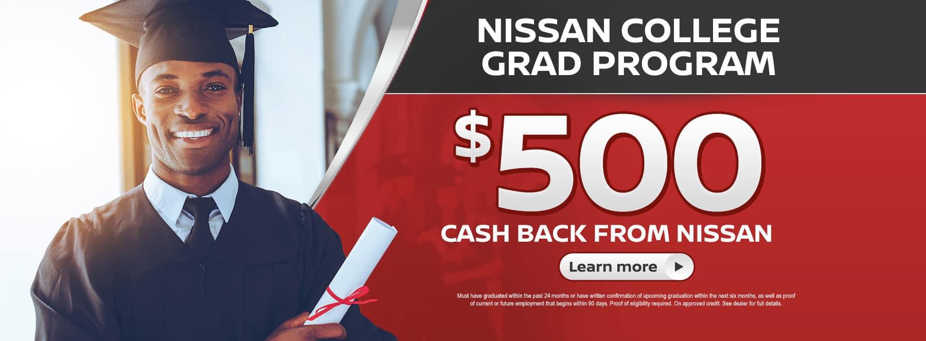Nissan College Graduate Program Banner