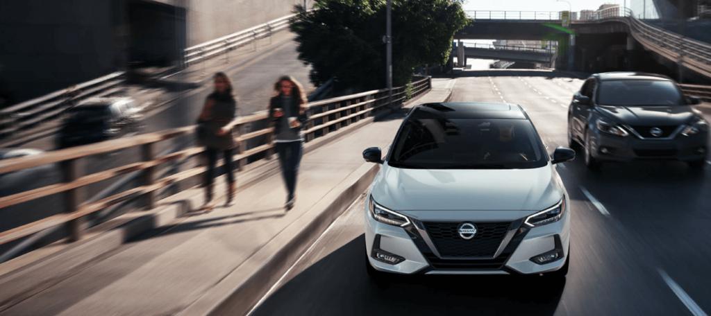 2021 Nissan Sentra Trim Levels on city street